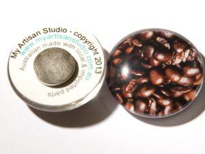 Coffee Bean Fridge Magnet