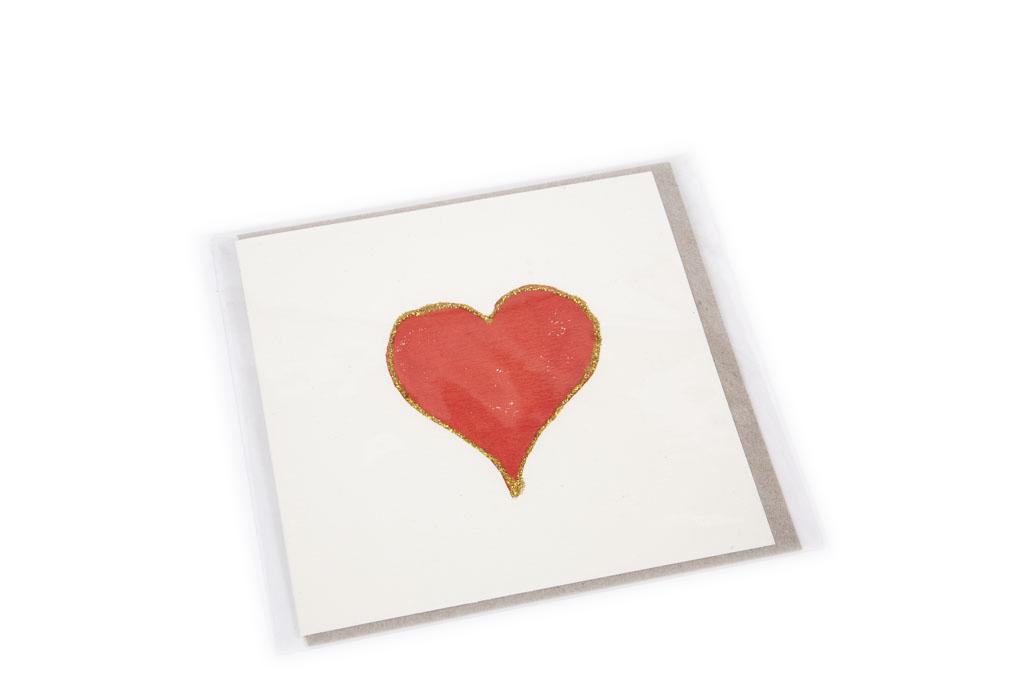 Hand Made card Ballarat Heart