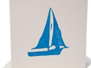 Boat blank greeting card