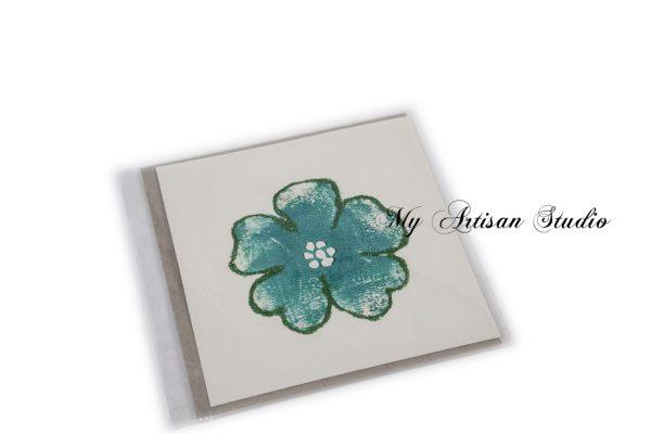 Green glitter flower gift card Ballarat