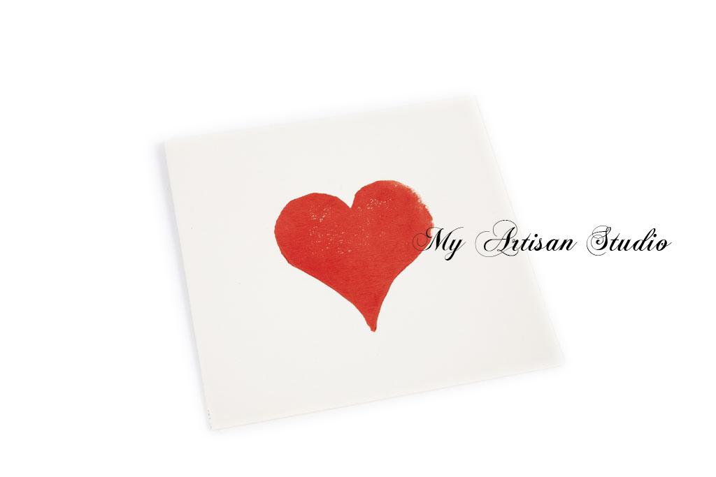 Red Heart Card Hand Made Gifts Ballarat