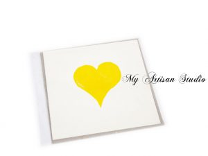 Yellow heart card Mother's Day Card