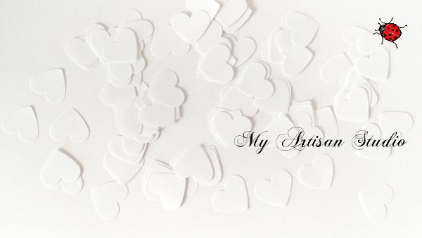 White heart confetti baby shower wedding decorations