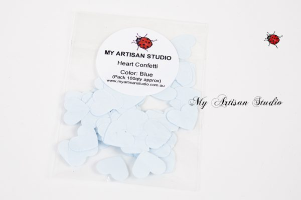 Pale Blue heart confetti baby shower wedding decorations