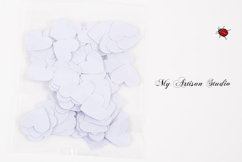 Pale Mauve heart confetti baby shower wedding decorations