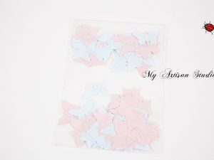 Pink & Blue butterfly confetti baby shower wedding decorations