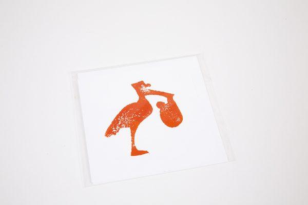 Stork Baby Greeting Card Ballarat
