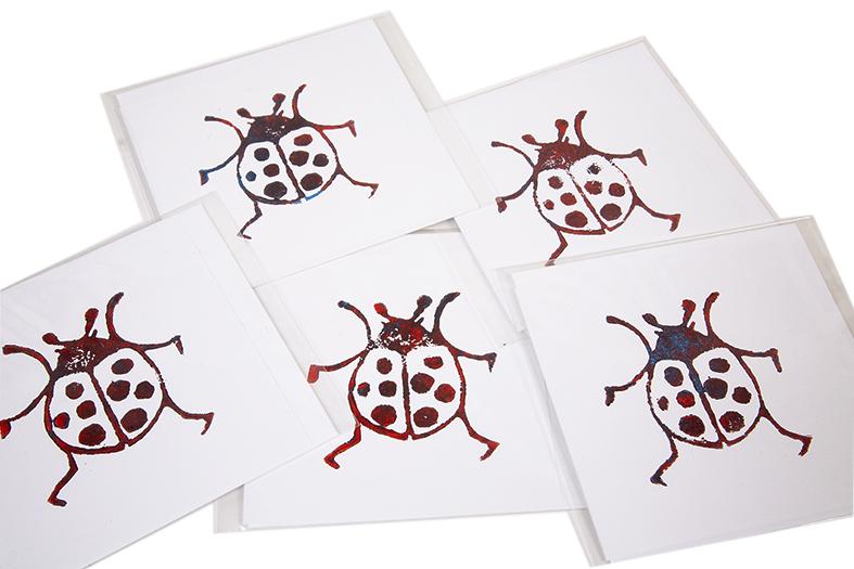Lady Bug Card Handmade Ballarat