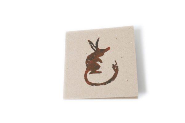Australian native animal greeting card handmade Ballarat