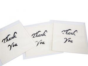 Thank You greeting card handmade Ballarat